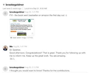 Proofreading for Best Selling Author Dr. Brooke Goldner, MD